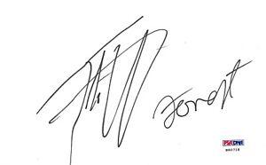 Tito Ortiz & Forrest Griffin Signed 4x6 Index Card PSA/DNA COA UFC 59 106 148