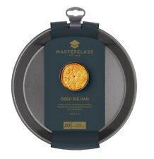 KitchenCraft MasterClass Non-Stick Heavy Duty 23cm / 9inch Deep Pie Pan