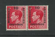 Great Britain Offices In Morocco, #'s 79,79a, Mnh Horizontal Pair (A9)