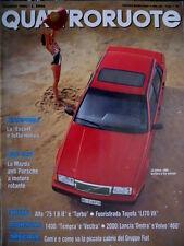 Quattroruote 416 1990 Volvo 460. La Mazda anti Porsche a motore rotante [Q.12]