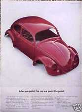 1965 65 VW Volkswagen Bug ORIGINAL Old Ad 5+= FREE SHIP C MY STORE FOR GREAT ADS