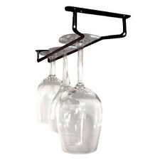 """Glass Hanger Rack - Oil Rubbed Bronze 10""""L - Bar Wine Champagne Stemware Holder"""
