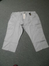 """AUTOGRAPH 3/4 GREY SILVER STRETCH """"JEWELED"""" CROP JEANS-SIZE 26-NWT REDUCED PRICE"""