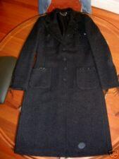 BLUMARINE $3900 FAB BLACK WOOL LONG BOUCLE COAT US10 EU40 IT44 UK12