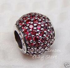 NEW Authentic PANDORA Red PAVE LIGHTS Clear ZIRCONIA Charm~Bead 791051CZR WINTER