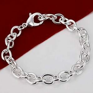 925 Stamped Sterling Silver Layered THICK PLAIN CHUNKY THICK CHAIN LINK BRACELET