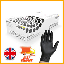 BLACK NITRILE DISPOSABLE GLOVES POWDER FREE LATEX FREE TATTOO MECHANIC VALETING