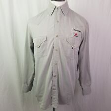 Pendleton Mens Silk Shirt Canadian Whiskey Let er Buck Long Sleeve Pearl Snap