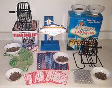 BINGO Las Vegas Lights Display Sign - 2x Deluxe Cages Cards Balls Business SET