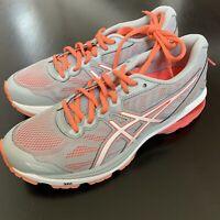 NEW ASICS Doumax WOMEN'S size 7 SAMPLE Sneakers Athletic shoes Gray orange