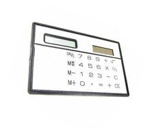 1Pcs 8 Digits Ultra Thin Slim Credit Card Solar Power Pocket Calculator