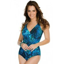 NEW MIRACLESUIT $146 Retail 12 42 Oceanus Blue TANK 1 PC SWIMSUIT Off the Scales