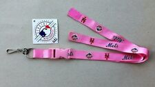 """NEW YORK """"METS""""  PINK 23""""  LANYARD OFFICIALLY LICENSED BY MLB"""
