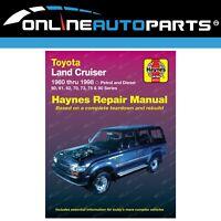 Haynes Workshop Repair Manual Book suits Landcruiser HJ60 HJ61 HZJ80 HZJ80