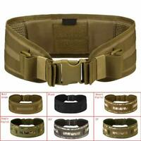 Tactical Military Hunting Airsoft Molle Combat Waist Padded Belt Combat Web Belt