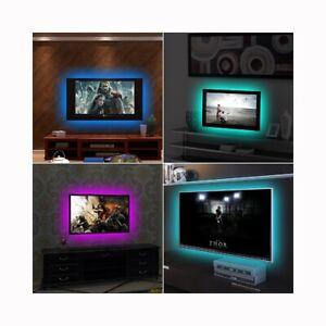 STRISCIA A LED attacco USB DC 5V retro TV casa Decorazione sfondo illuminazione