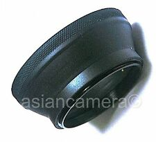 52mm Collapsible Rubber Lens Hood Sun Shade Screw-in Metal Double Threads Ring
