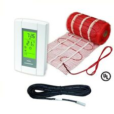 90 Sqft Mat, Electric Radiant Floor Heat Heating System with Aube Digital Floor