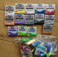 New Fimo Polymer Clay Bundle inc Effects 14 Packs Plus many opened packs