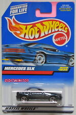 HOT WHEELS 1999 MERCEDES SLK #1025 BLUE W/ SAWBLADE WHEELS