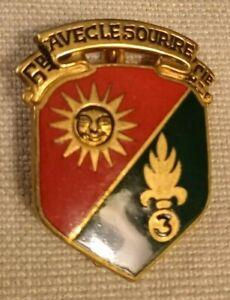 Insigne légion étrangère 6 compagnie 2 bataillon 3 REI Drago Olivier Métra dépos