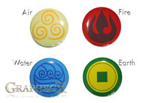 Fan-made Avatar The last Airbender Element cosplay inspired personalized buttons