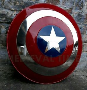 Medieval Captain America Shield X-Mas Cosplay Props Best Steel Metal Shield Gift