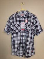 $60 Men's XL X-Large Coleman Stretch Navy/Red Button Down Shirt Outdoor MSRP NWT