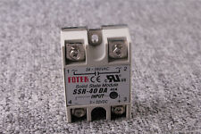 1x Solid State Relay DC-AC Metal Base 40A Output AC 24-380V SSR-40DA US Shipping