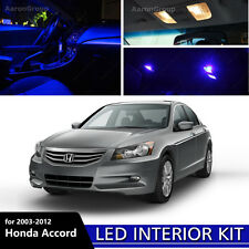 10PCS Blue Interior LED Bulbs For 2003-2012 Honda Accord White for License Plate