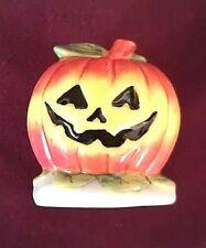 Pumpkin, Porcelain Collectible, Gel Candle Embed, Halloween Display