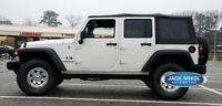 2010-2016 Jeep Wrangler 4-Door Replacement Soft Top with Tinted Rear Windows