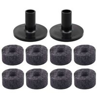 8PCS Cymbal Stand 25mm Felt Washer + 2PCS Cymbal Sleeves Replacement for Sh X2S7