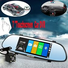 "7"" Android Navigation Dual Lens HD 1080P Auto Kamera Rearview Mirror Cam DVR"