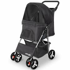 Pet Stroller for Dogs and Cats,Jogger Folding City Walk 4 Wheeler Paws & Pals
