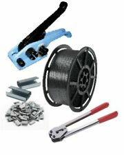 More details for pallet strapping banding kit pack 1 coil tension & sealer tools metal seals