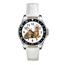 California Spangled Kitten Cats Mens Ladies Unisex Leather Strap Wrist Watch
