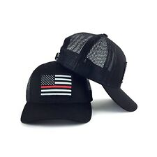 Thin Blue Line USA Flag Ball Cap Police Support ICE DHS Army MP USMC CBP Hat OD