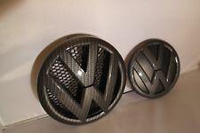 VW T5 TRANSPORTER CARBON FIBRE FRONT GRILL REAR BOOT BADGE