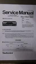 TECHNICS RS-TR474M2 Manuale di servizio
