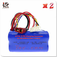 "2PC 6 PIN 14.8V 1500MAH BATTERY G.T. 53"" QS 8006 RC HELICOPTER PARTS QS8006 -014"