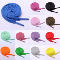 120cm Unisex Flat Shoelaces Sport Sneakers Women Men Cotton Shoelaces Solid