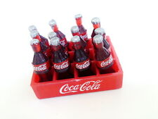 12 COCA COLA COKE BOTTLES CRATE MINIATURE DOLLHOUSE SODA FAKE FOOD SOFT DRINK GI
