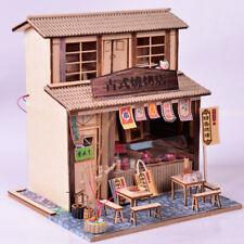 DIY Dollhouse Miniature Furniture Kit Vintage BBQ Restaurant LED Kids Gift