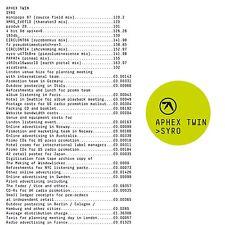 APHEX TWIN Syro CD 2014