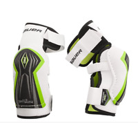 Bauer Supreme Pro Elbow Pads- Junior (Small/Medium)- White & Green