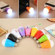 Portable Mini USB LED Ball Light Camp Lamp Bulb For Laptop PC Desk Reading