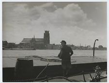Allemagne, ville portuaire, à identifier Vintage silver print Tirage argentiqu