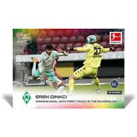 2020 2021 card #72 Topps Now Bundesliga EREN DINKCI 1st goal SV WERDER BREMEN