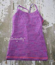 Ivivva TUMBLIN TANK Heathered Purple RAcerback Athletic Shirt TOp DAnce Run 10